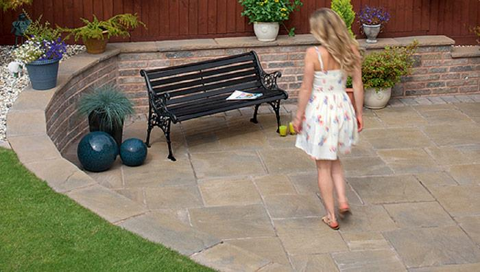 Heritage Riven Garden Paving - Calder Brown