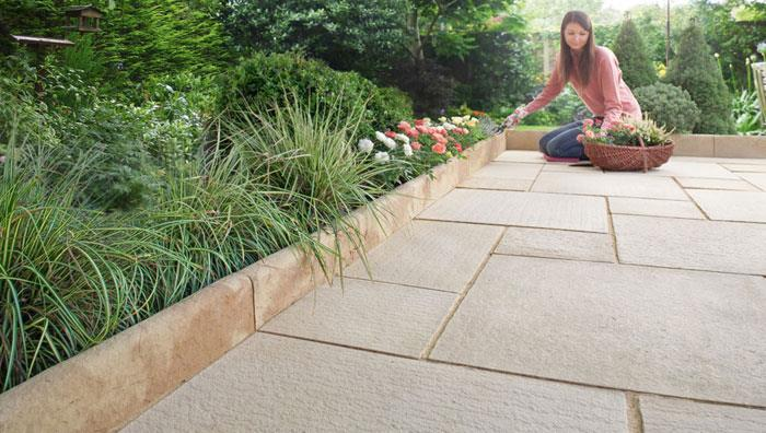 Granite Stone Edging : Hewnstone natural stone effect edgings marshalls