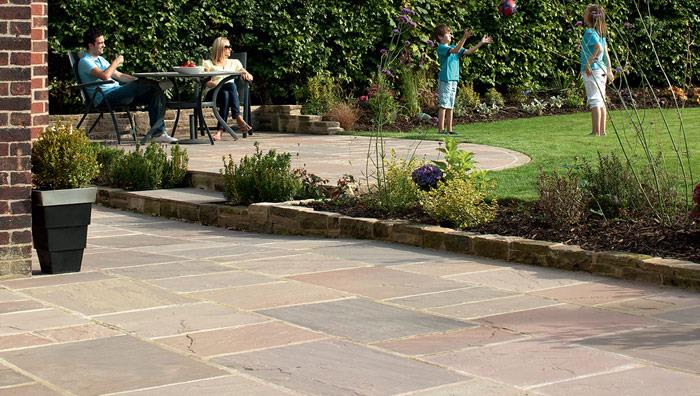 Indian Sandstone Paving - Buff Multi
