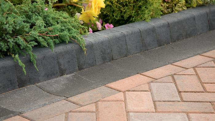 Keykerb Half Battered and Splay Driveway Kerbs - Charcoal