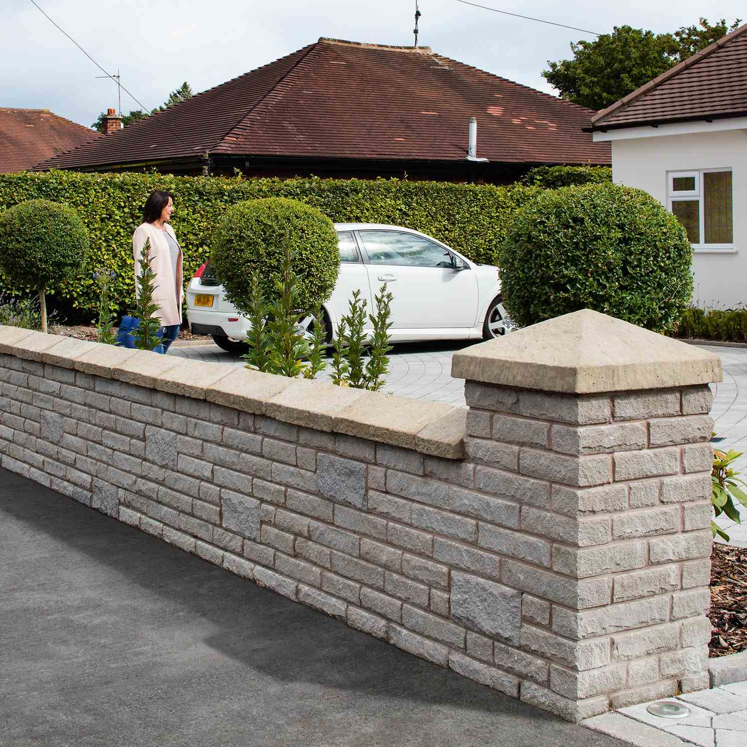 marshalite pitch faced garden walling | marshalls.co.uk