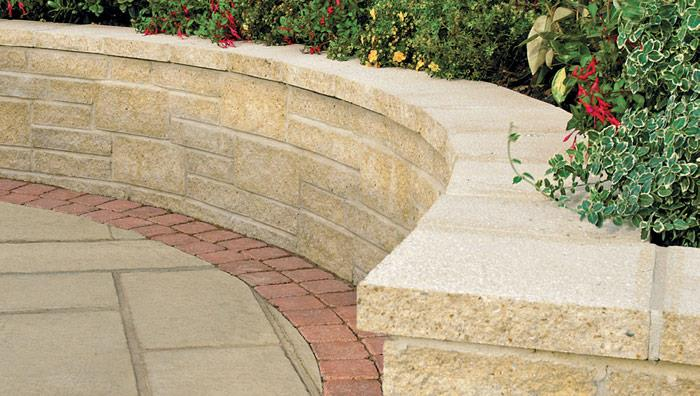 Marshalite Split Faced Garden Walling - Buff