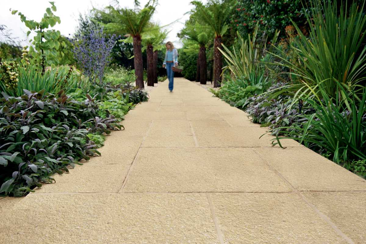 Saxon textured garden paving for Small garden paving designs